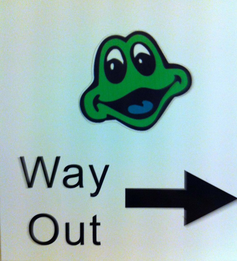 #263 - Way out frog (02-12-12)